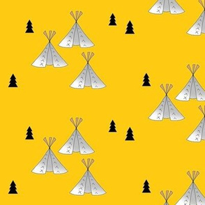 Teepee yellow