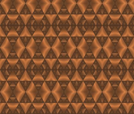 Bronze Tone Fractal Stripe