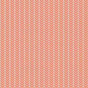 coral chevron // small