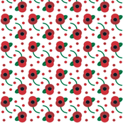 RED POPPIES AND SPOTS