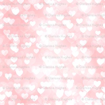 Pastel rainbow theme heart bokeh pattern 7 fabric for Pastel galaxy fabric
