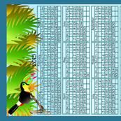 Calendar 2015 with Toucan
