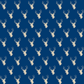 Navy and Tan Deer Silhouette half scale