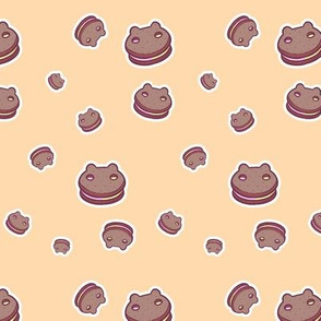 Creamy Cookie Sandwich Cats