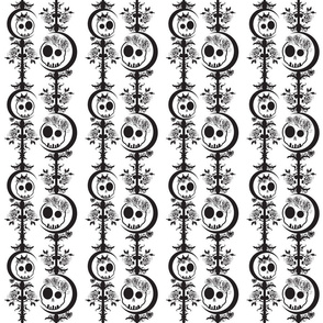 Haunted Skulls - Black & White