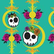 haunted-wall-skulls-colors