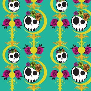 haunted-wall-skulls-colors