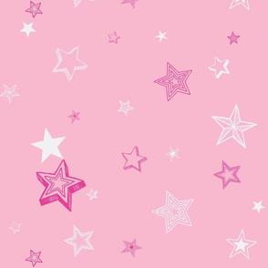Stars and stars-pink