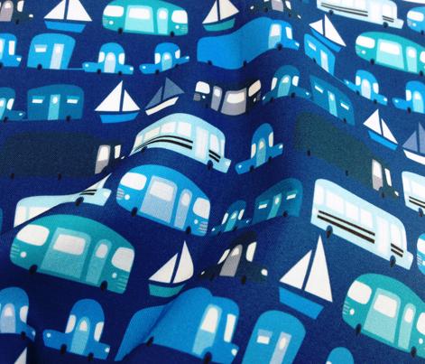 Cars on blue