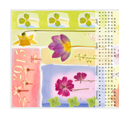 2015 Calendar Tea Towel Garden