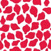 strawberry pop art hot pink