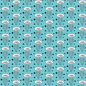 white jellyfish turquois