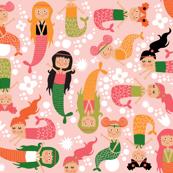 mermaids pink