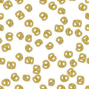 pretzels on white