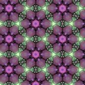 Jewel Tone Green & Purple Flower Pattern