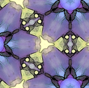 Bright purple flowers pattern
