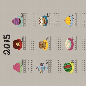 Just Desserts 2015 Tea Towel Calendar