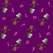Baby Dancing Tree on Purple with Musical Notes