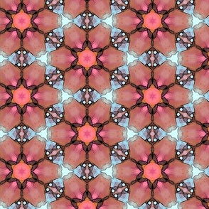 Red Flowered Design