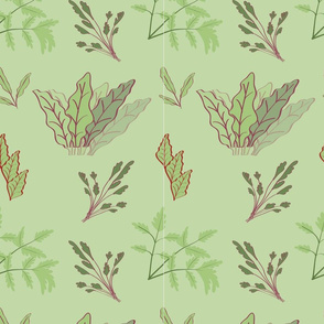 Root Vegetable Leaves