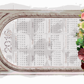 2016 Calendar in Shabby Chic