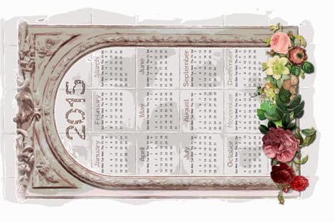 2015 Calendar in Shabby Chic