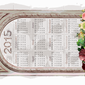2015 Calendar in Shabby Chic