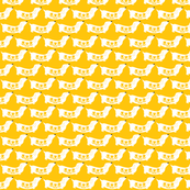 dachshund yellow flowers