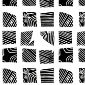 black and white abstract squares