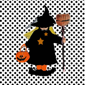 Little Witch on Polka Dots large scale