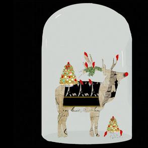 Christmas Reindeer in Globe
