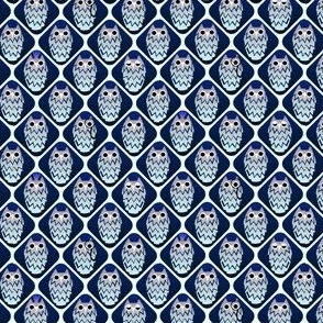 One owl is not like the others, small blues