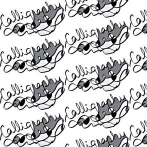 Calligraphy in Grey Tones
