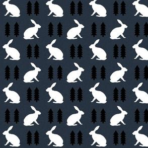 rabbit navy blue linen