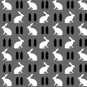 rabbit light grey linen