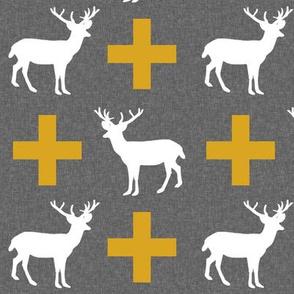 deer plus golden grey