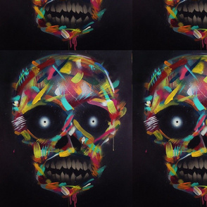 Graffiti Pop Skull #1