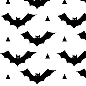 bat white black