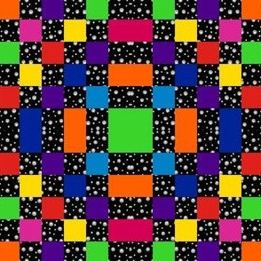Rainbow Checkerboard in Mirror Repeat 2