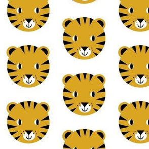 tiger face happy animal modern kids nursery design