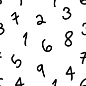 numbers black and white minimal monochrome