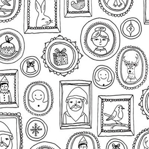 christmas portraits // black and white kids cute holiday christmas fabric