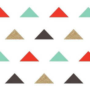 Christmas Triangles - Gold Glitter by Andrea Lauren