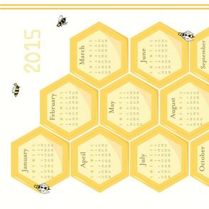 2015 Honeycomb calendar