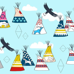 Teepee Village (Sky Blue)