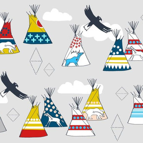 Teepee Village (Grey)
