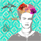 Ode to Frida CUSHION COVER (Mint Tapestry)
