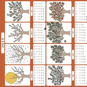 Seasons Teatowel Calender 2015 by Iammia