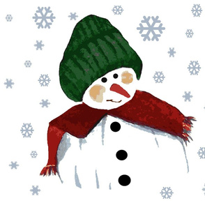 Friendly Snowman fat quarter bundle