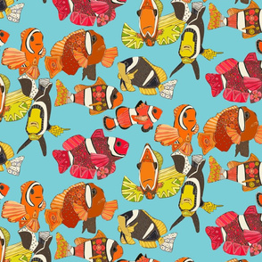 clownfish blue